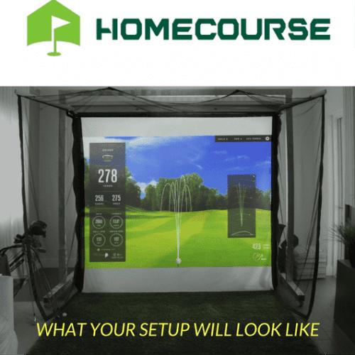 HomeCourse Pro Retractable Golf Simulator Screen