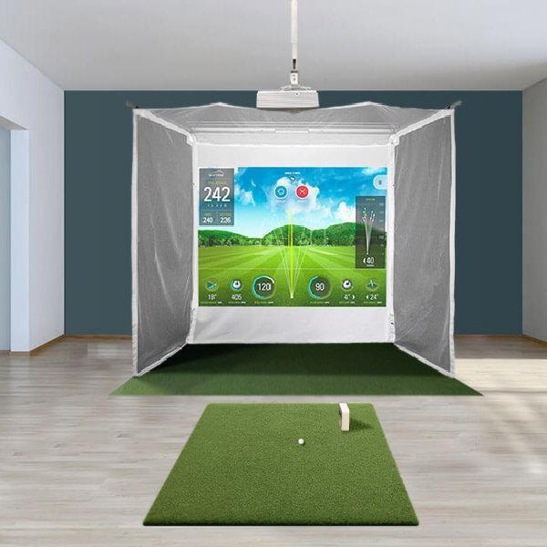SkyTrak Retractable Golf Simulator Package