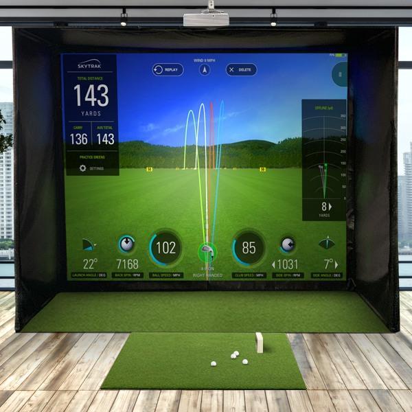 SkyTrak SwingBay Golf Simulator Package